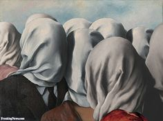 Gallery of photoshopped pictures via Freaking News Rene Magritte The Lovers, Magritte Paintings, Cute Couple Art, Funky Art, Famous Art, Pictures To Paint, Surreal Art, Painting Inspiration, Collage Art