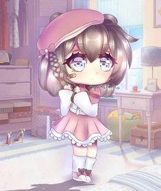 Cute Anime Chibi, Kawaii Chibi, Kawaii Anime, Anime Drawing Styles, Anime Girl Drawings, Funny Phone Wallpaper, Chibi Girl, Cute Kawaii Drawings, Girl With Purple Hair
