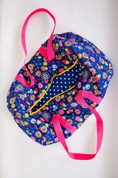 travel bag weekender bag sports bag beach bag by homemadeByBZ