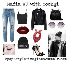 """Mafia AU with Yoongi"" by yoseok-hoongi ❤ liked on Polyvore featuring Dolce&Gabbana, Topshop, STELLA McCARTNEY, Yves Saint Laurent, Brian Lichtenberg, Lime Crime, Kate Spade and Monki"