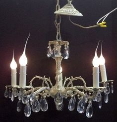 Soft Antique White Crystal Chandelier Ivory White Pearl Crystal Girls Room…