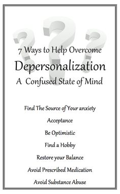 """According to most psychological experts, being """"Depersonalized"""" is one of the most dreadful and confusing states of mind an individual can experience. It can cause Anxiety and Panic attacks. However Depersonalization Disorder can be treated."""