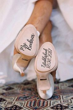 Personalized Wedding Shoes Stickers, Wedding Shoes Decal, Bride Shoes Decal, Something Blue, Wedding Decal, Bride Decal, Wedding Photo Prop #afflink