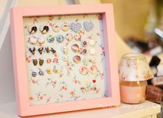 DIY - earring holder! :)