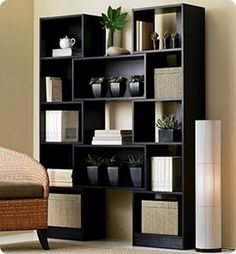 Black Bookshelf How to make knock-off furniture for less money. Inspired by real furniture designs.How to make knock-off furniture for less money. Inspired by real furniture designs. Decor, Furniture, Crate And Barrel Bookcase, Bookshelves, Bookshelf Design, Modern Bookshelf, Furniture Plans, Home Decor, Furniture Design