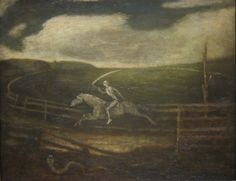 Albert Pinkham Ryder (American 1847–1917) [Tonalism] The Race Track (Death on a Pale Horse) (1895 - 1910), Cleveland Museum of Art.