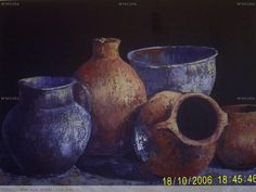 bodegones al oleo - Buscar con Google Vases, Soft Pastel Art, Acrylic Canvas, Pottery Painting, Still Life Photography, Art Tips, Black Art, Ceramic Pottery, Painting Inspiration