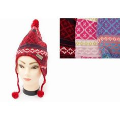 Scotland Childrens//Kids Peruvian Winter Thermal Bobble Hat with Tassels