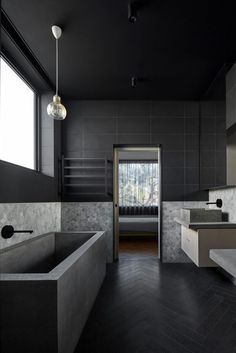 | BLACK + BATHROOMS | Writer's House by Branch Studio Architects