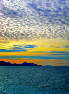 ~~Cotton in the sky . ~ Aegean Sea sunset, Rhodes Island, Greece by pantherinia_hd Anna A~~ Beautiful Landscape Photography, Beautiful Landscapes, Nature Photography, Photography Ideas, Beautiful Sky, Beautiful World, Beautiful Places, Rhodes Island Greece, Paris Match