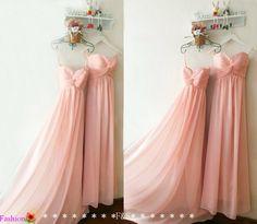 Blush Pink Bridesmaid DressInexpensive Peach di FashionStreets
