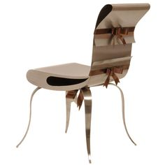 Ribbon Chair by Maria Pergay | From a unique collection of antique and modern chairs at http://www.1stdibs.com/furniture/seating/chairs/