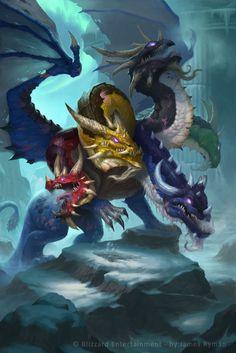 Chromatus Picture (2d, fantasy, dragon, hydra) A sort of Tiamat?