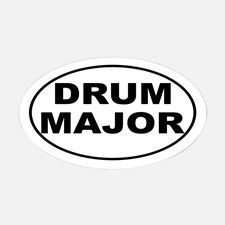 Drum Major Band Music Decal for