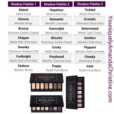 Younique Addiction Shadow Palettes www.youniqueproducts.com/DiamondPatty