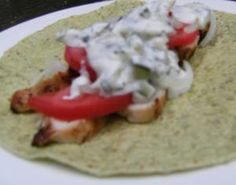 CHICKEN WRAPS WITH DILL CUCUMBER SAUCE