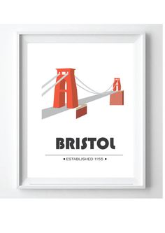 Clifton Suspension Bridge Bristol Iconic Poster by PoppyLanePrints