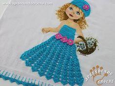 Vestido de Croche p/ Aplicação - Boneca Patricia - Aprendendo Crochê