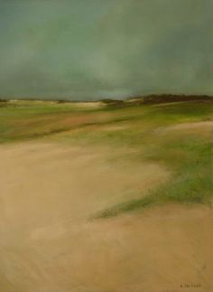 'The Dunes' by Anne Packard. Oil.