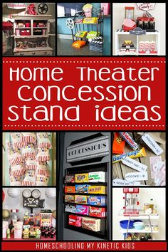 Fabulous Ideas for a Family Home Theater home movie theater concession stand ideas from Homeschooling My Kinetic Kids Movie Theater Snacks, Movie Theater Rooms, Home Theater Decor, Cinema Room, Movie Night Snacks, Movie Rooms, Movie Night Party, Family Movie Night, Family Movies