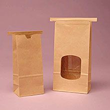 Kraft Tin Tie Coffee Bags