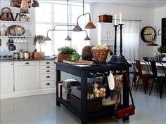 Swedish country kitchen with an industrial touch