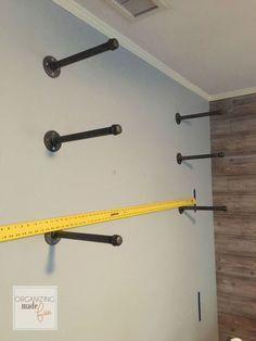 How To Add Easy Industrial Shelving On The Cheap                                                                                                                                                     More