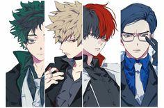 Boku no Hero Academia || #AU [ Midoriya Izuku, Katsuki Bakugou, Todoroki Shouto, Tenya Iida. ]