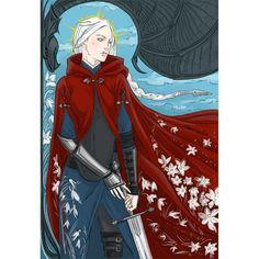 "the Thirteen - Manon (Snow drop flower - ""Hope"") (TOG by Sarah J. Maas @therealsjmaas ) #Throne_of_Glass #Manon #Blackbeak #the_Thirteen #witch #Manon_Blackbeak #Ironteeth #Wing_Leader #girls #armour #armor #flowers #snowdrop #sword #wyvern #books #novels #YA #SJMaas #Sarah_J_Maas #art #fanart #illustration #digital #Wacom #PhantomRin"