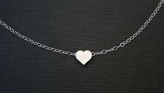 Tiny Silver Heart Necklace. Heart Necklace. by BellaJewelsInc, $22.00