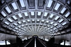 Love this photographer's effort to capture the symmetry of some of the stations