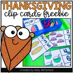 Thanksgiving Number Clip Cards by Kelly McFarland from Engaging Littles Thanksgiving Math, Numbers 1 10, Book Letters, Get To Know Me, Invitations, Invite, Have Fun, Lettering, Clothespins