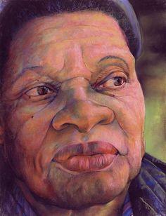 The Gaze Of Mother Witt Art Print by Curtis James African American Artist, American Artists, African Art, Mocha, Harlem Renaissance Artists, Michael Howard, Black Art Pictures, Thing 1, Black Artists