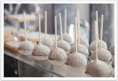 Silver cake pops!  Modern Luxe La Jolla  Wedding by Alchemy Fine Events: The ultimate dessert bar! www.alchemyfineevents.com