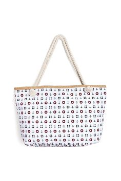 """Whether you're hitting the high seas or staying along the shore, this classic tote bag allover print of anchors & other design is perfect for any beach-related plans that pop up throughout summer.    Dimensions: W 21"""" x L 13"""" Strap L 10.5""""   Anchor Print Tote by Riah Fashion. Bags - Totes California"""