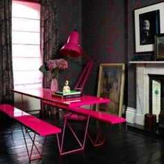 Interior Blog Awards, hot pink accent, lamp, pink, colour, bright, stand out, Image courtesy of Abigail Ahern