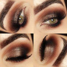 Olhos em tons de marrom / bronze