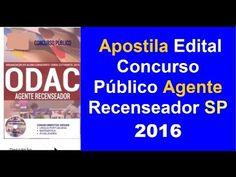 Apostila Edital Concurso Público Agente Recenseador | SP 2016
