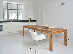 Tavolo allungabile in legno massello LUNGO - Vitamin design