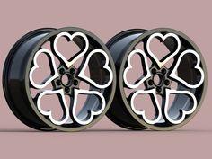 Pretty Cars, Cute Cars, Pink Motorcycle, Cool Car Accessories, Girly Car, Rims For Cars, Wheel Rim, Car Mods, Car Wheels