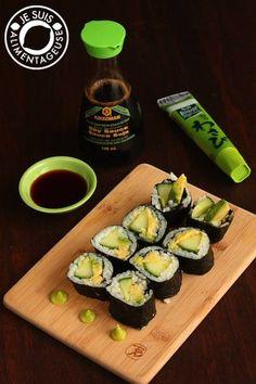 Cucumber Avocado Sushi Rolls - Love Japanese Food? Here Are 13 Amazing Recipes, Veganized - ChooseVeg.com