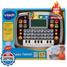Join Cody The Smart Cub for tons of learning fun with the Little Apps Tablet by VTech! With a color-changing screen, letter buttons and piano keyboard, this role-play, electronic tablet engages your child in imaginative play. | eBay!