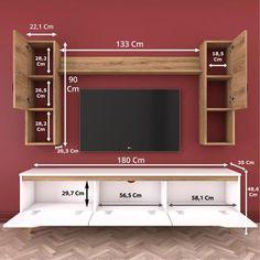 Tv Unit Furniture Design, Tv Unit Interior Design, Tv Wall Design, Tv Unit Decor, Tv Wall Decor, Tv Cupboard Design, Modern Tv Wall Units, Living Room Tv Unit Designs, Home Decor Shelves