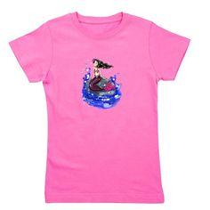 Mandy The Mermaid Girl's Tee www.teeliesfairygarden.com This wonderful tee features slim fit style and contemporary longer length. #fairytshirt