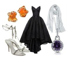 """""""BURNING GLASS by Kathryn Purdie"""" by heidi-heilig on Polyvore featuring Halogen, Zac Posen, BERRICLE and Versace"""
