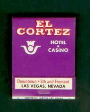TEN VINTAGE EL CORTEZ HOTEL Las Vegas Nevada  Rare Early Matchbooks