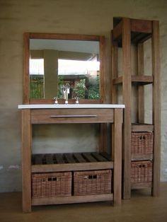 vanitory 80 cm x 47 cm sin mesada con 2 estantes t-deck