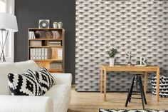 Welcome to Magma Wallcovering. We source and supply beautiful, high-end wallpapers and wall coverings for home and commercial use. Estilo Interior, Interior Styling, Interior Design, White Wallpaper, Dark Colors, Accent Colors, Decoration, Backdrops, Ivory