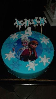 Frozen taart met plaatje