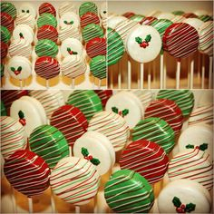 Christmas #Chocolate Covered Oreos Pops with Hebert Chocolate. - hebertcandies.com
